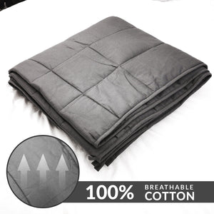 "ZNL_Dark_Grey_ Weighted_Blanket_(20 lbs_48""_x_72""_Twin_Size)_high_end_heavy_blankets"