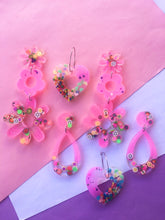 Load image into Gallery viewer, Tutti Frutti Daisy Dangles Cute Candy Earrings