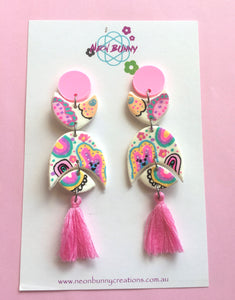 Bunny land Geometric Earrings With Tassels