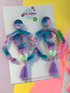 Blossom Lantern Dangles Daisy Twilight Earrings