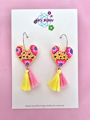 Sunset daisy earrings