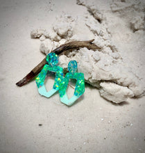 Load image into Gallery viewer, Mermaid Sparkle Earrings
