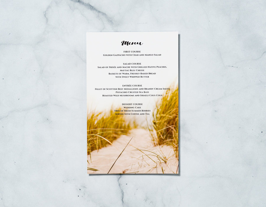 Amore Shore - Reception Menu