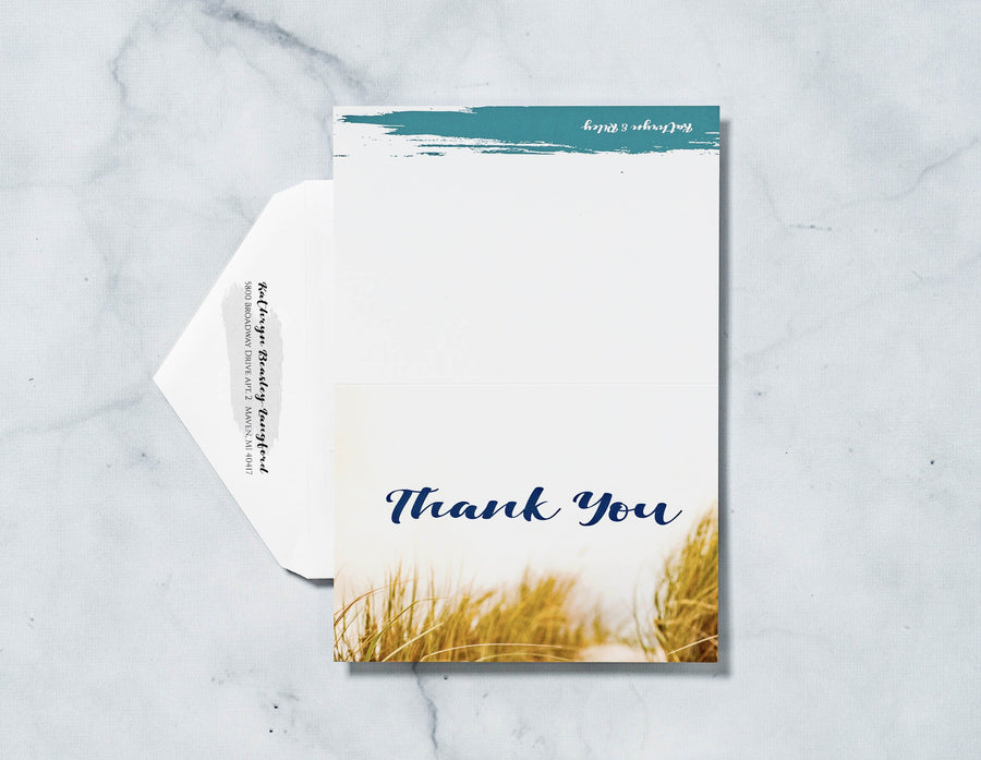 Amore Shore - Thank You Card & Envelope