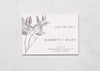 Fine Flora - Save the Date Card & Envelope