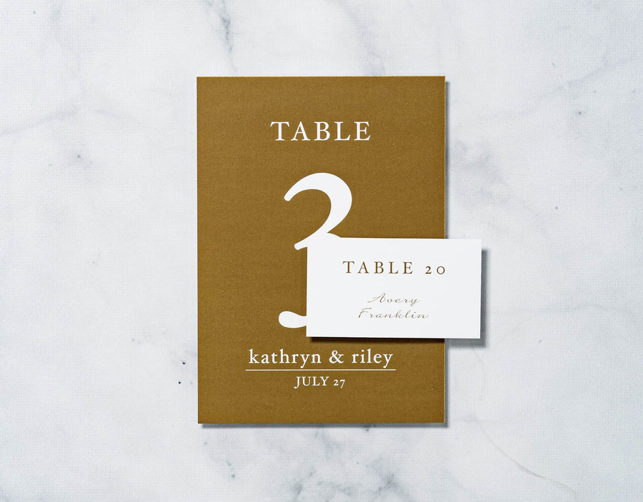 Gold Confetti - Reception Place Cards - Standard