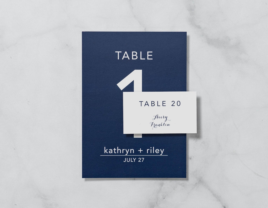 Graceful Script - Reception Place Cards - Tented