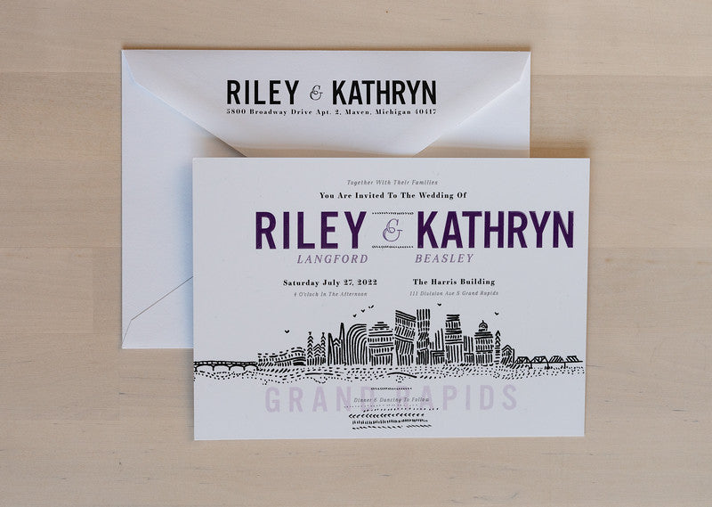 Grand Rapids - Invitation Card & Envelope