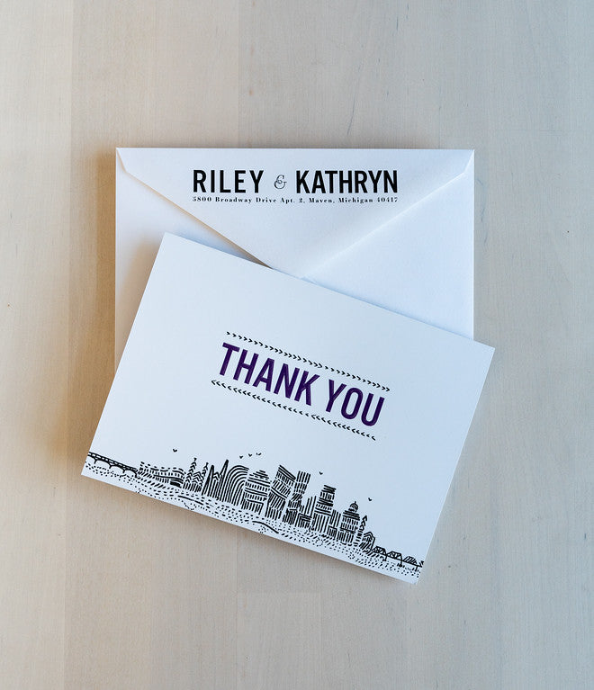 Grand Rapids - Thank You Card & Envelope