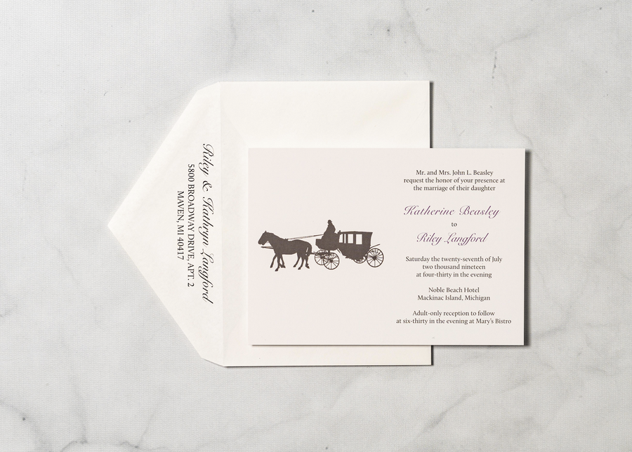 Mackinaw Charm - Invitation Card & Envelope