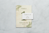Palm Leaves - Reception Place Cards - Tented