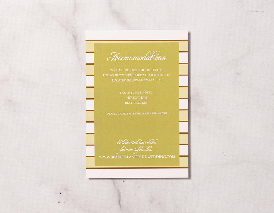 Stripes for Two - Details Card