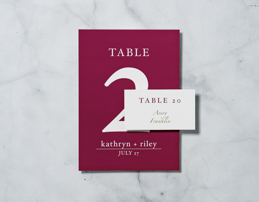 Sweet Calla Lilly - Reception Table Numbers