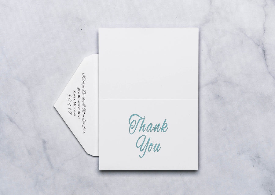 Dotted Leaf - Thank You Card & Envelope