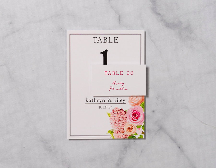 Garden Frame - Reception Table Numbers