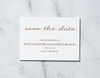 Gold Confetti - Save the Date Card & Envelope