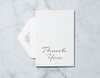 Gold Confetti - Thank You Card & Envelope