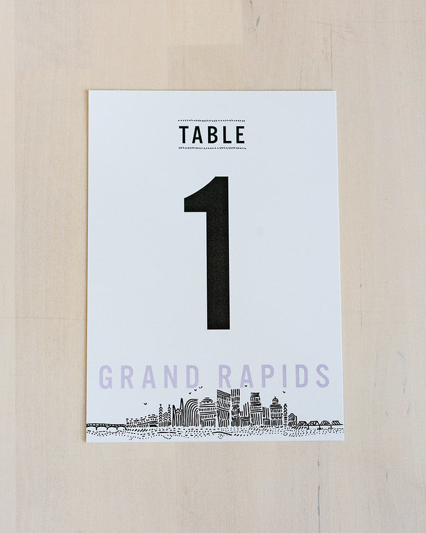 Grand Rapids - Reception Table Numbers