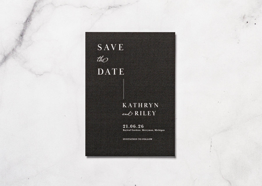 Modernly Elegant - Save the Date Card & Envelope