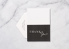 Modernly Elegant - Thank You Card & Envelope