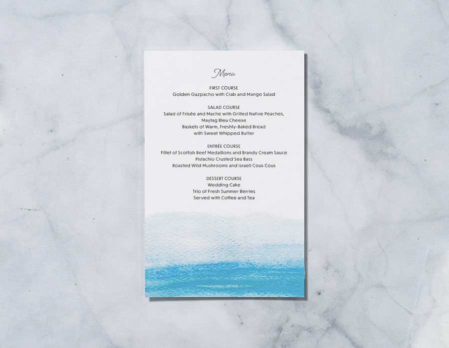 Moonlit Stroll - Reception Menu