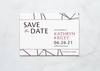 Neo Notions - Save the Date Card & Envelope