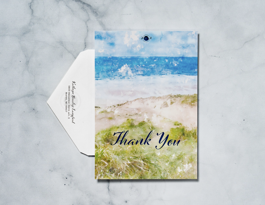 Sand Dunes - Thank You Card & Envelope