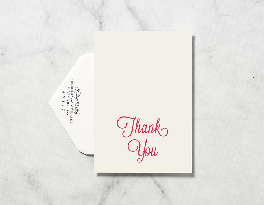 Sketched Manor - Thank You Card & Envelope