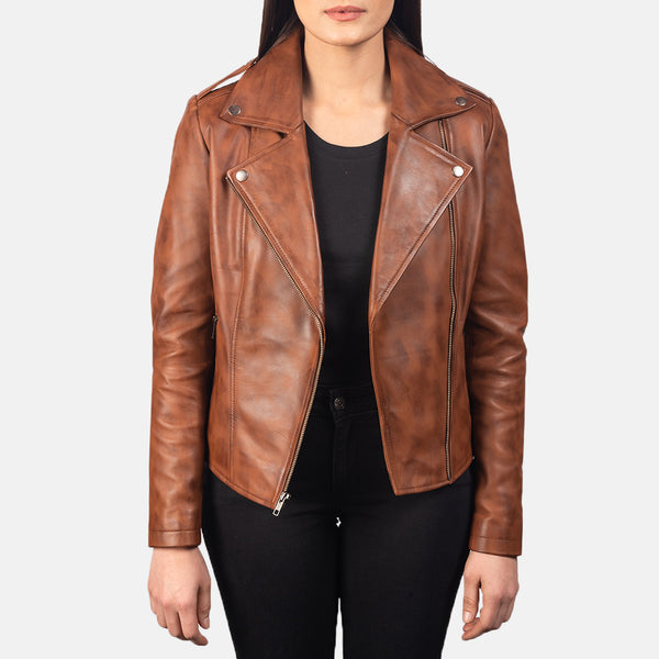 Flashback Black Leather Biker Jacket