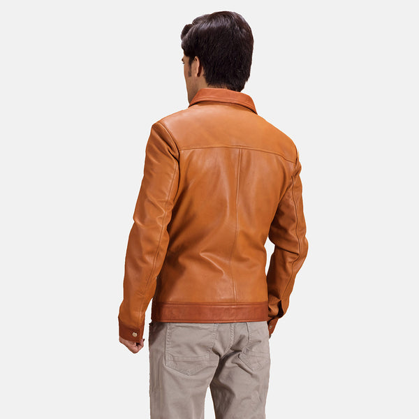 Hubert Tan Brown Leather Jacket