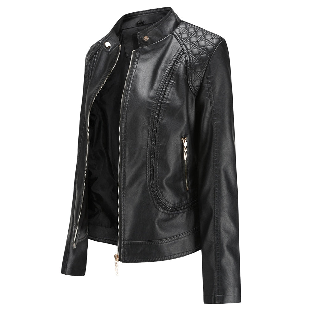 NXH Women Motorcycle Leather Jacket