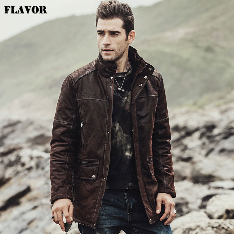 FLAVOR Genuine Leather Jacket