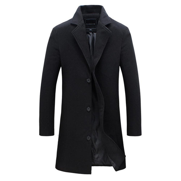 Men's Trench Single Breasted Business Coat