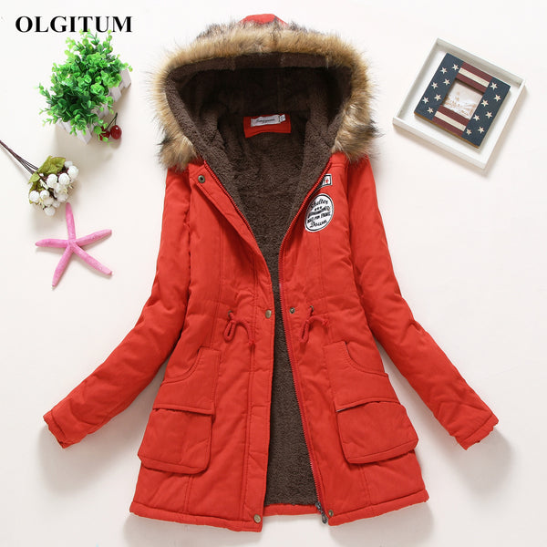 Female Women Winter Cotton Coat