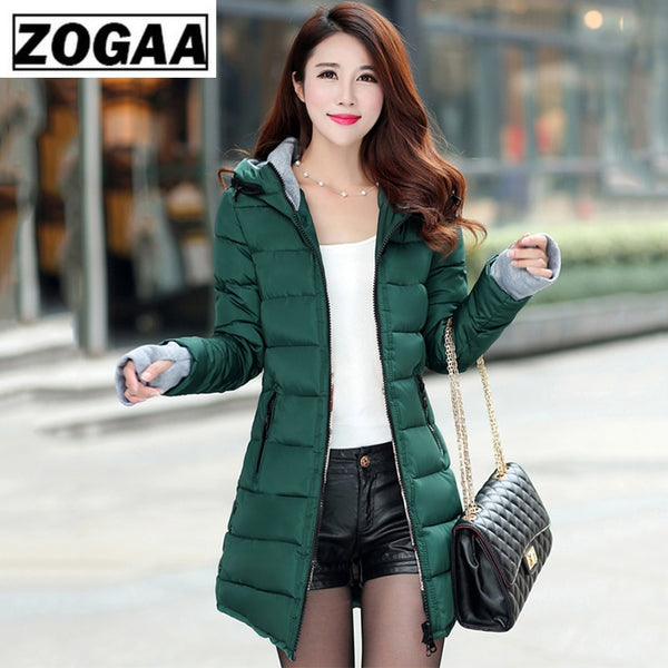 Women Hooded Warm Coat Plus Size Candy Color