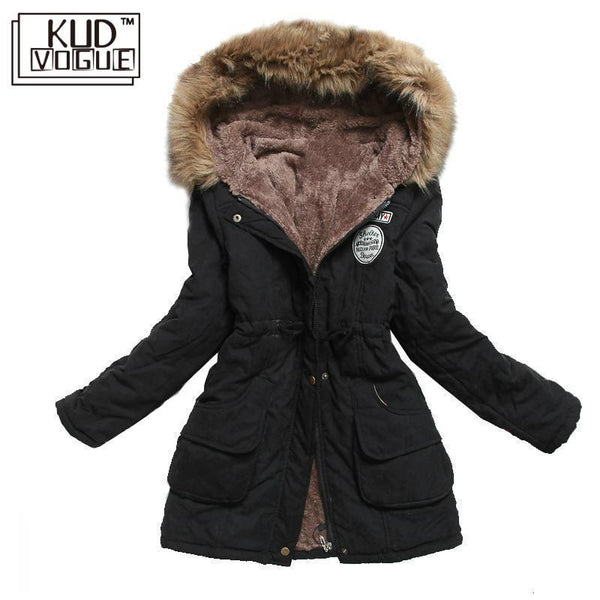 Women Thick Warm Hooded Parka
