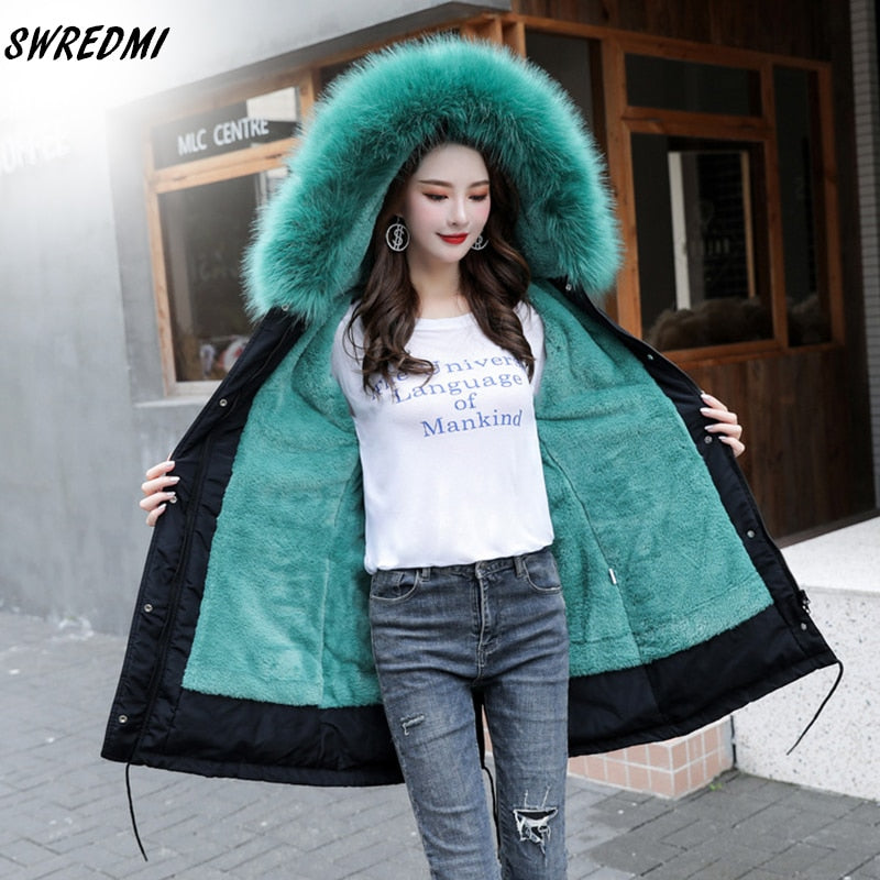 SWREDMI Thick Warm Winter Jacket