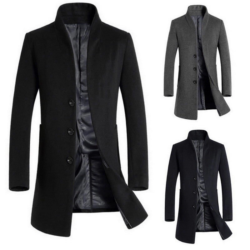 WindBreaker Slim Fashion Wool Coat Jacket - Jacketfy