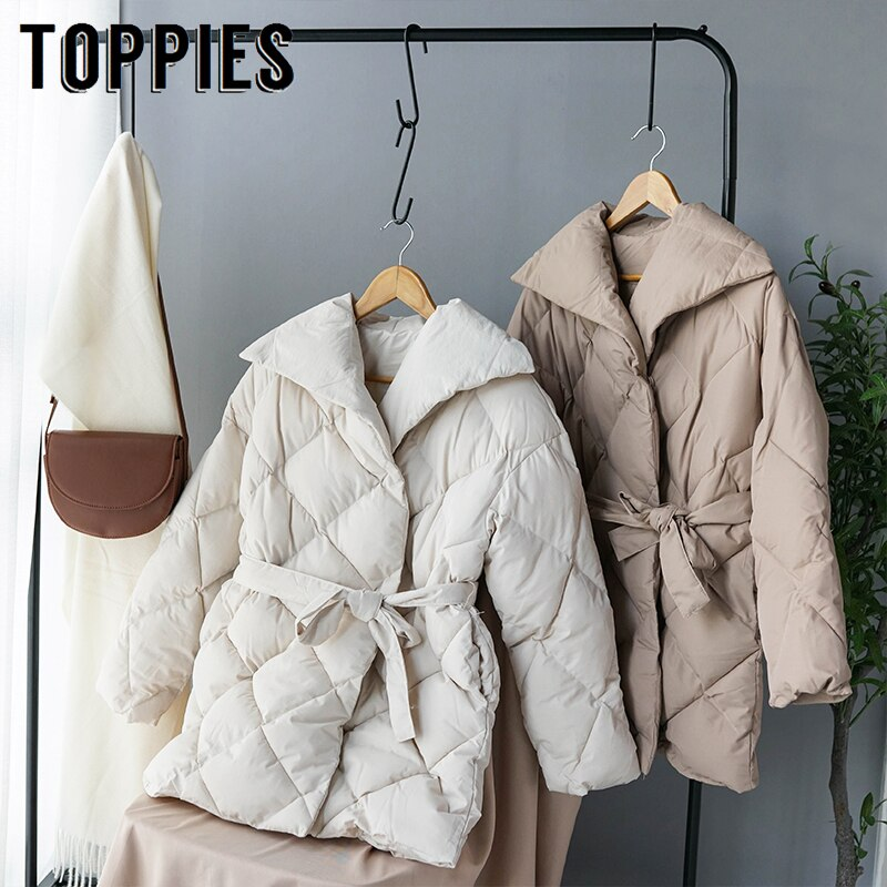 Women Double Breasted Puffer Parka