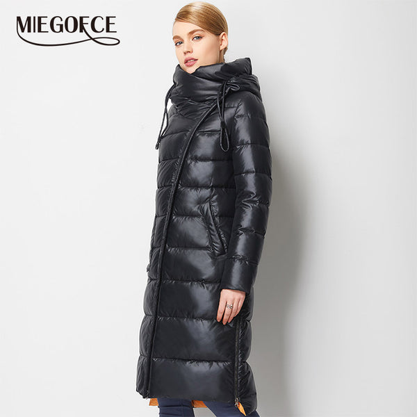 MIEGOFCE Women Warm Hooded Bio Fluff Parka Coat