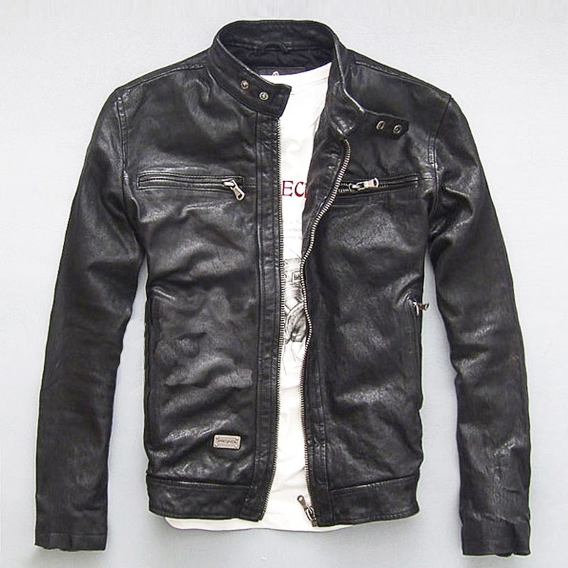Vintage Stylists Rodeo Genuine Sheep Leather Jacket