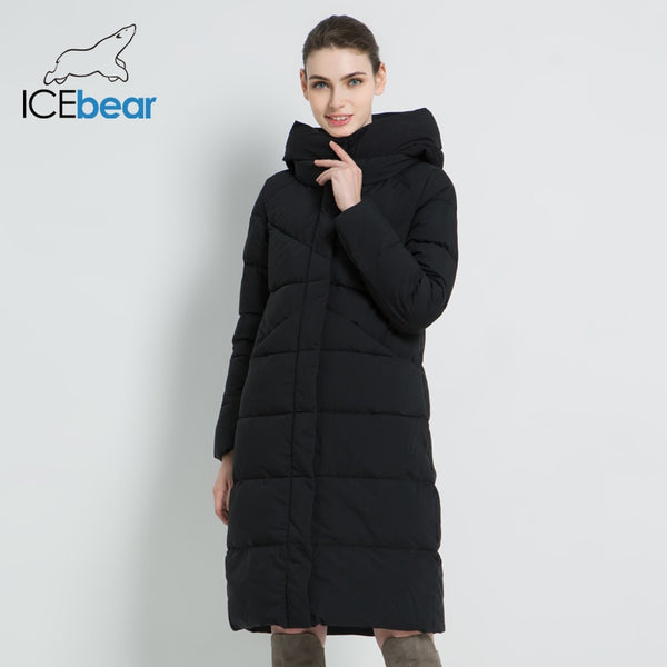 ICEbear Women Parka Simple Cuff Windproof