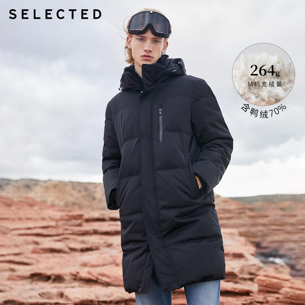 SELECTED Winter Duck Down Double-Collar Parka