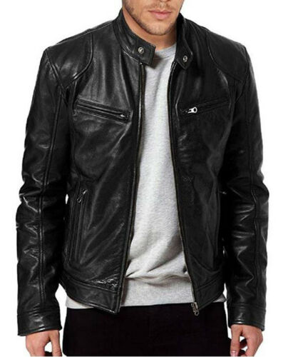 UK Men Lambskin Leather Jacket