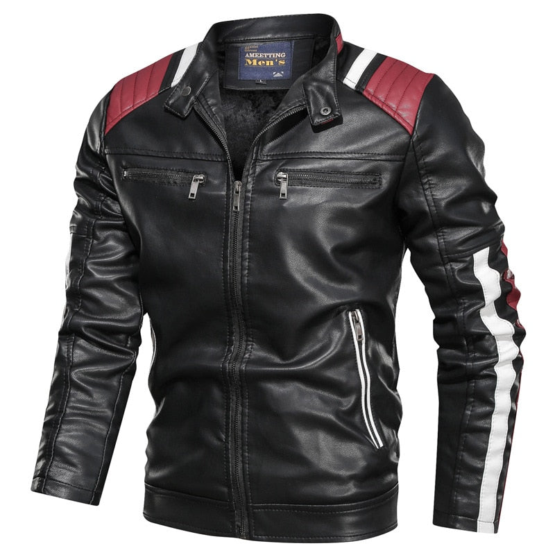Men Outfit Design Motorcycle Zipper Jacket