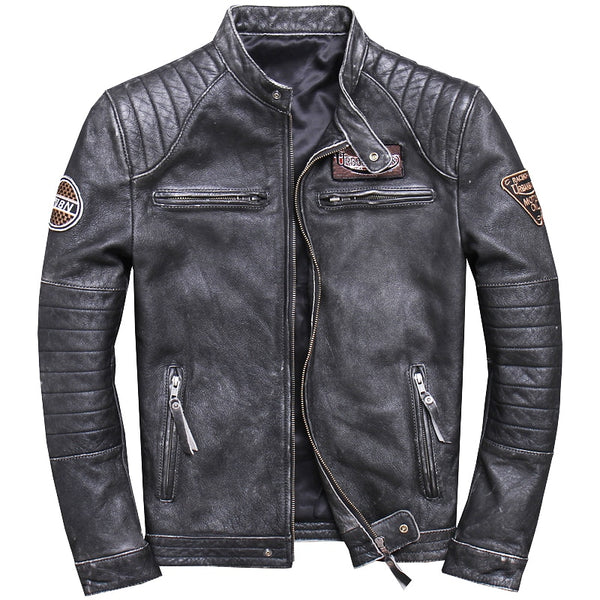 Cowhide Biker Vintage Stylists Rodeo Leather Jacket