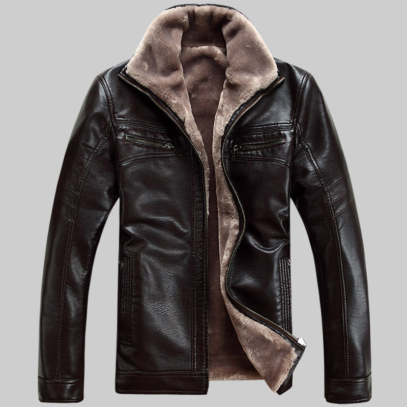 Men's Natural Sheep Skin Outerwear Coat