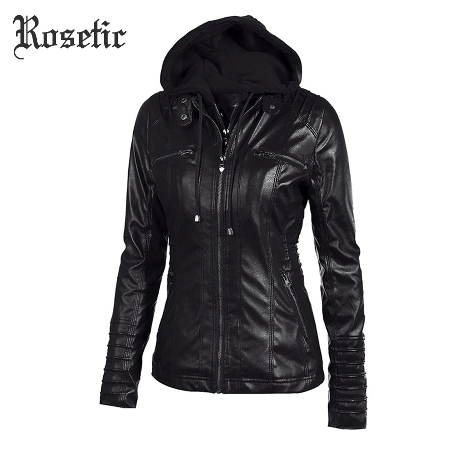 Rosetic Gothic faux leather coat