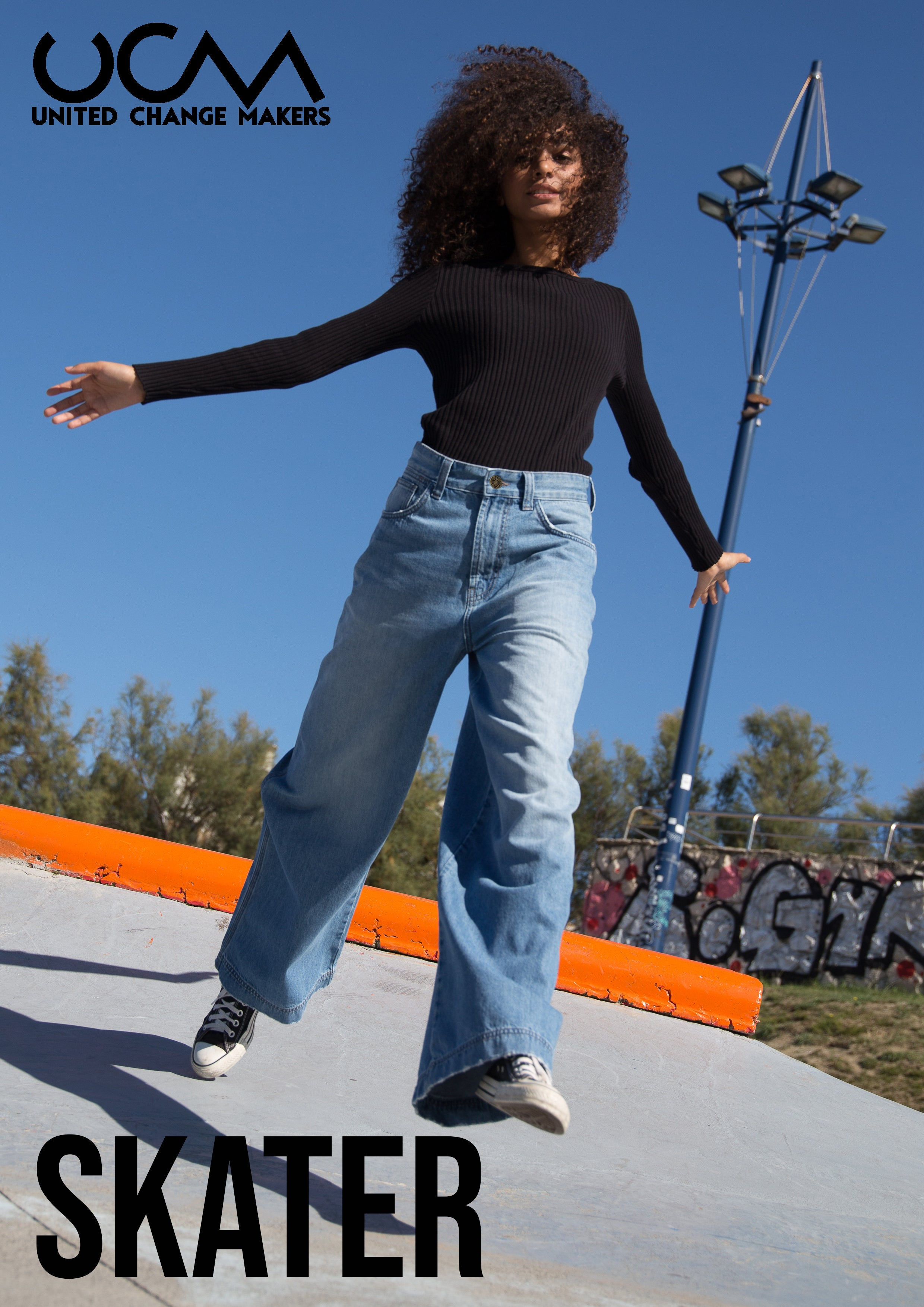 Skater, Wide Fit, Light Denim, Ethical Jeans