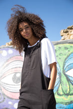Load image into Gallery viewer, Black Dungarees - United Change Makers - Organic Dungarees